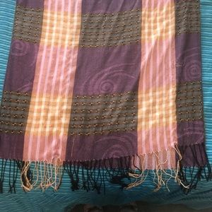 Pashmina purple and pink